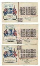 Australia to USA - 1947 QE II Royal Wedding (3) FDC Registered
