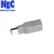 USB Adaptor  A Male To B Female gender changer adapter CabledUp USB906