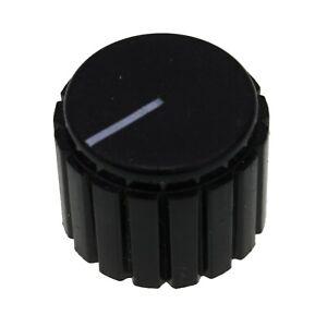 Black Plastic D-Shaft Volume Knob 20x15mm