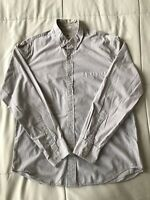 J.Crew Light Gray Washed Shirt In Microstripe Size Large