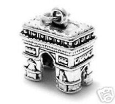 925 Sterling Silver 3D Arc de Triomphe Paris Charm