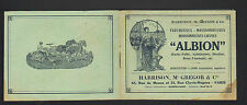 "PARIS (XIX°) MACHINES AGRICOLES ""ALBION / HARRISON , McGREGOR & Cie"" Catalogue"