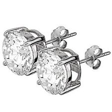 Sterling Silver 10mm Stud Earrings with CZ