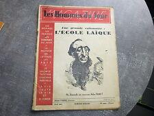 Ecole laïque Jules Ferry Les Hommes du jour 1935