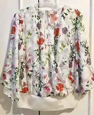 Ted Baker Myyah Hedgerow Kimono Top RRP £119 Size 2,4,5 UK 10,14,16 Floral