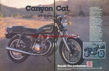 "Suzuki ""Canyon Cat"" Motorcycle 1978 Magazine Advert #2950"