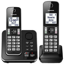 Panasonic 2-Handset DECT Cordless Phone with Answering System (KXTGD392B)