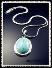Silver Plated Turquoise Stone Fashion Necklaces & Pendants