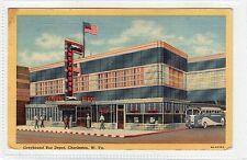 GREYHOUND BUS DEPOT, CHARLESTON: West Virginia USA postcard (C23444)