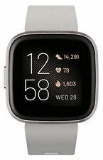 Fitbit Versa 2 Health and Fitness Smartwatch, Stone/Mist Gray Aluminum