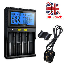 4 Solt LCD Intelligent Battery Charger For Li-ion 18650 26650 AAA AA 14500 16340
