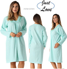 Plus Size Women's Super Comfortable Ultra-Soft Cotton Nightgown,Long Sleeve,XL