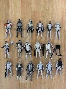 Star Wars Clone Trooper Stormtrooper Lot of 17 Wolffe Commando Boss Rex