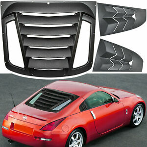 for Nissan 350Z 2003-2008 Rear+Side Window Louver Windshield Sun Shade Cover