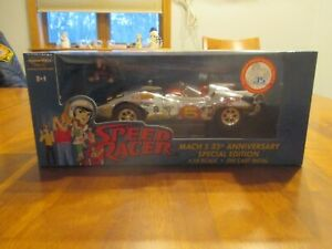 Speed Racer Mach 5 Chrome Chase Car ERTL American Muscle 1:18 Scale