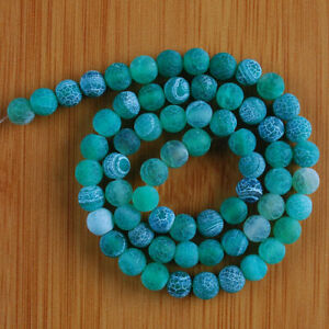 """VD1168-a 6mm Fire Agate Ball Loose Beads 14.5"""""""
