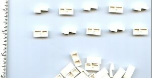 LEGO x 26 White Slope, Curved 2 x 1 No Studs NEW 11477