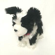 American Girl Saige's Dog Rembrandt Border Collie Plush 2013 Silver Tag Collar