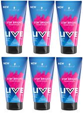 6x Schwarzkopf Live Stay Bright Colour Booster Shampoo SHOCKING PINK 150ml
