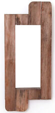 "New Vintiquewise 28"" High Rustic Natural Barn Wood Framed Wall Mirror"