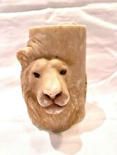 Collectible decorative spirit animal lion head candle Lava Enterprises
