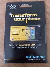 H2O Wireless Transform Phone Sim Card Starter Kit Unlocked Gsm Android iPhone