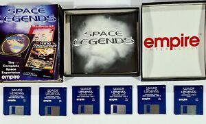 "©1993 Commodore Amiga SPACE LEGENDS 3,5"" Disk MegaTraveller/Wing Commander/Elite"