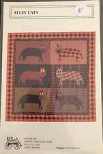 """Alley Cats Applique Quilt PATTERN ONLY 52"""" x 52"""" Square"""