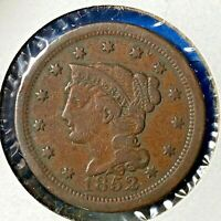 1852 1C Braided Hair Cent (55824)