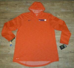 Nike Clemson Tigers Dri-FIT Hoodie Jacket TEE size Men's XL
