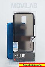 Funda Carcasa bumper Momax  Samsung G900 Galaxy S5 antigolpes negro translúcida
