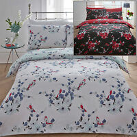 Beautiful Birds Duvet Quilt Cover Pillowcase Bed Bedding Set Floral Bird Aviary