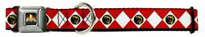 Dog Collar Seat Belt Licensed Power Rangers Red WPR012