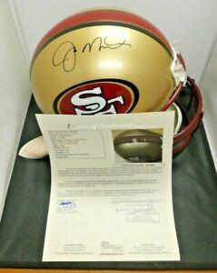 Joe Montana HOF Signed Full Size SF 49ers Football Helmet with Full JSA Letter