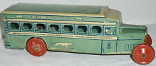 J. Chein & Co Coast to Coast Greyhound Lines Tin Bus 1930 Made in USA
