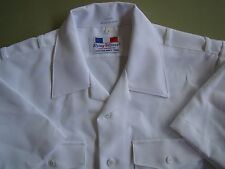 US NAVY USN ALL RANKS ALL RATES OFFICER'S S/S SUMMER DRESS WHITE SHIRT SZ XL  PC