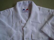 US NAVY USN ALL RANKS ALL RATES OFFICER'S S/S SUMMER DRESS WHITE SHIRT SIZE LG