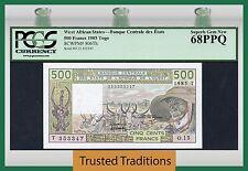 Tt Pk 806Th 1985 West African States 500 Francs Pcgs 68 Ppq Superb Top Pop!