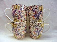 Set of 4 William Morris flora design aspen china mugs