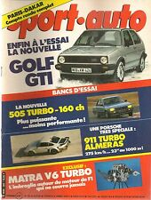SPORT AUTO 265 1984 RALLYE PARIS DAKAR PORSCHE 911 TRUBO ALMERAS VW GOLF II GTI