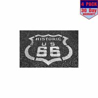 Painted Pavement Route 66 Angle 4 Stickers 4x4 Inch Sticker Decal