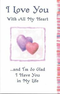 Blue Mountain Arts Sentimental Card: I Love You With All My Heart
