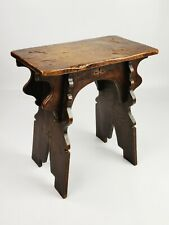 A 16th Century Style Boarded Oak Stool.