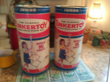 2000-2 containers jumbo tinker toys-1 new in box- 1 full