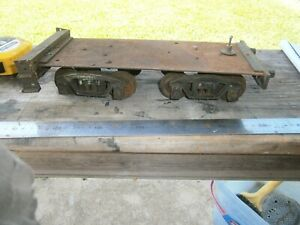 Vintage  Steam Locomotive Tender Chassis  with bogies 2 1/2 inch gauge