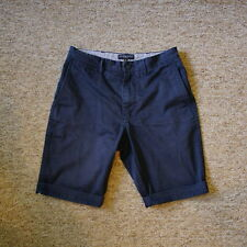 Lyle & Scott Vintage Mens Navy Blue Chino Shorts Size 29 Measured 30 Tag