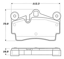 Disc Brake Pad Set-Street Brake Pads Rear Stoptech 308.09780