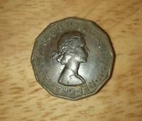 PRIVATE SELLER:  Rare  BRONZE COIN THREE PENC  1962 ELIZABETH. II . DEI . GRATIA