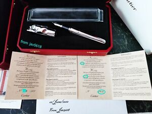 CARTIER PANTHERE PANTHER F.PEN.EXCEPTIONAL,ART💎RELIC,ULTRA RARE,NEW,FIRST💎💎💎