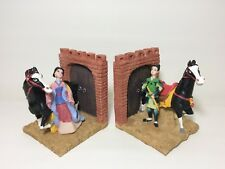 Mulan Bookends Walt Disney Safeway Exclusive Handpainted in Box Khan